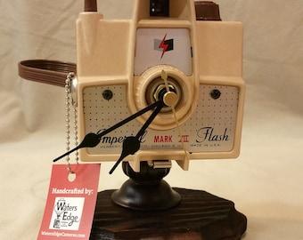 Vintage Imperial Mark VII Camera Clock Upcycled
