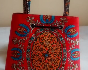 Medium Sized African Print Handbag