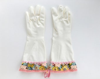 Latex Free Dish Gloves. Size Small, Medium and Large. Floral Kitchen Cleaning Gloves. Gifts for Women. Spring Cleaning Gift Under 30.