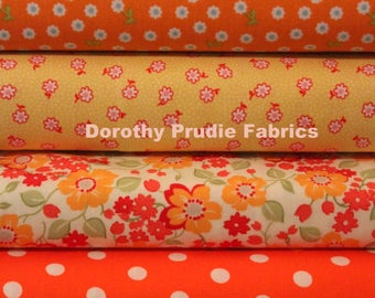 FABRIC BUNDLE MARMALADE collection 6 different Fat Quarters