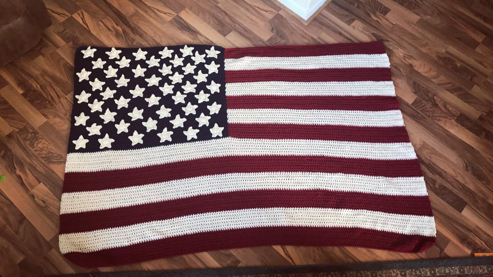 Amazing Amerikanische Flagge Decke Häkelmuster Image Collection ...