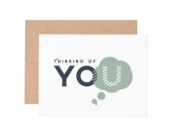 Thinking of You Letterpress Greeting Card - Sympathy Card | Thinking of You Card | Greeting Cards | Letterpress Card