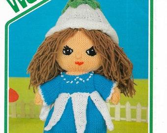 WENDY 2546 Victoria Plum Doll Original 1970's Vintage Knitting Pattern PDF Instant Download