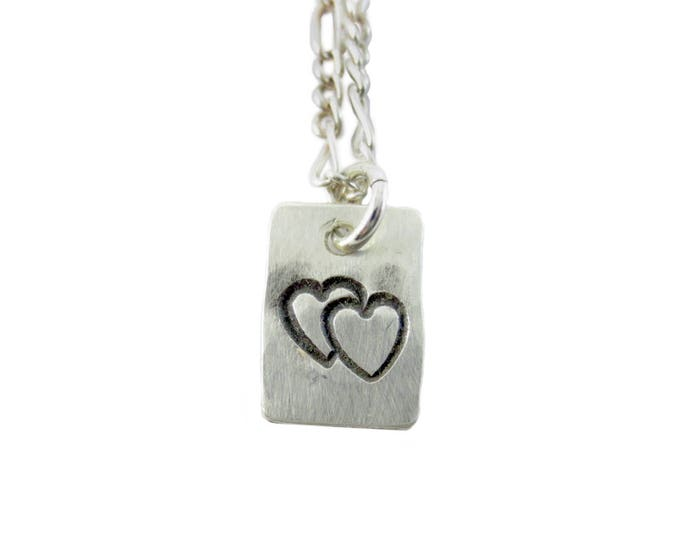 Heart #4 Stamped Charm
