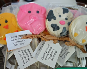 Farm Animal Cookie-Pops