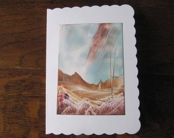 Wonderful Iceland 3 original Encaustic Painting greeting card