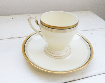 Eschenbach Bavaria Tea Cup, cute tea cup, china cup, small tea cup, fine china, gold rimmed, home decor, wedding gift, housewarming
