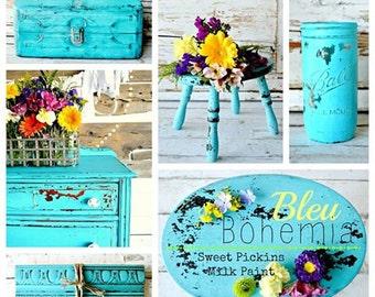 Bohême bleue - liquidation de peinture de lait Pickins sucré