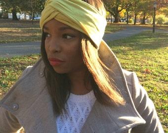 Chartreuse Turban Headband