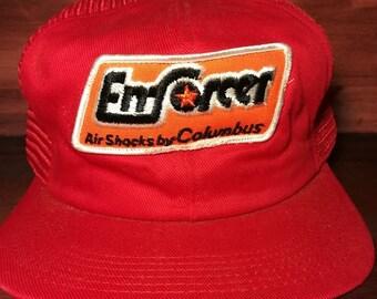 Vintage Enforcer Air shocks by Columbus snapback trucker hat
