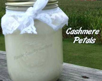 Cashmere Petals Soy Candle in 16 oz Jar