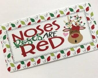 Reindeer Wreath Sign - Christmas Sign - Wreath Attachment