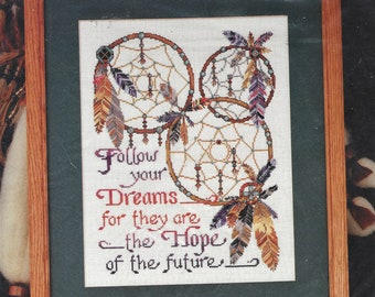 Dreamcatchers Design Works Counted Cross Stitch Kit 9294 Designed by Joan Elliot Native American Design NIP 11 x 14 Finished Size