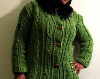 Crochet coat & hat