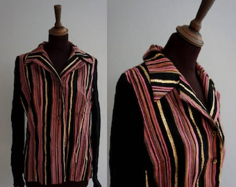 1970s Disco Shirt / Vintage Party Shirt