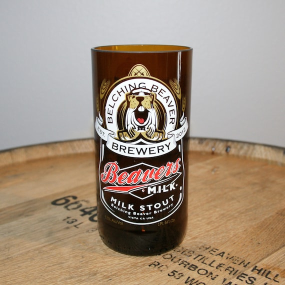 UPcycled Pint Glass - Belching Beaver - Milk Stout