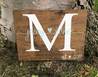 Monogram Sign,Monogram Decor,Wedding Decor,Wedding Sign,Personalized Wedding Gift,Personalized Wedding Decor,Wedding Gift,Wedding Date Sign