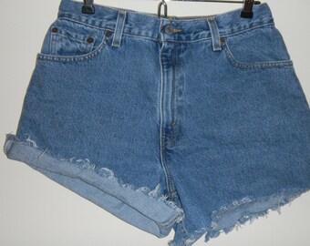 Levis 550 cut off jeans.   size 10
