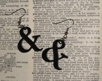 Ampersand Symbol Acrylic Earrings