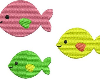 Cute Fish Group Machine Embroidery Designs 4x4 & 5x7 Instant Download Sale
