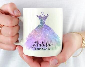 Asking Bridesmaid Gift, Bridesmaid Personalized Mug, Bridesmaid Proposal, Bridesmaid Dress Mug, Maid of Honor Gift, Bridesmaid Box Gift