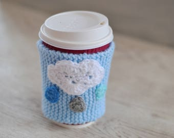 Coffee Cup Cloud Hug Cozy, Mug Cozy, Cup Cosie,