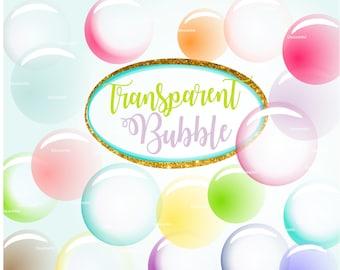 ON SALE Summer bubble clipart, bubble printable clipart, transparent bubble clipart, bubbles clipart , scrapbooking, paper party kids