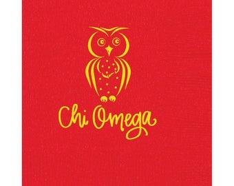 Chi Omega Napkins (Qty 25)