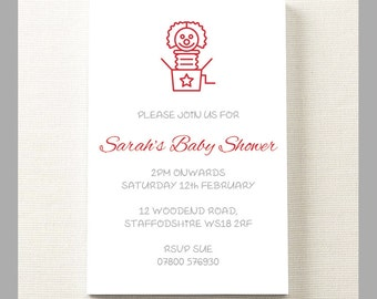 10 x Personalised Birthday Shower Invitation Party Guest Theme With Jack Cards A6 With Envelopes.