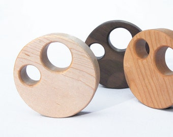 Manzanita Toy Wood Rattle // An Eco-Friendly Safe Baby Toy & Teether // Natural Wood Rattle Makes the Perfect Personalized Baby Shower Gift
