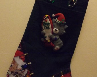 "The ""MERRY CHRISTMAS"" cat stocking"