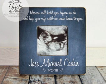 Memory Picture Frame, Loss of a Child Picture Frame, Heaven Will Hold You Before We Do...