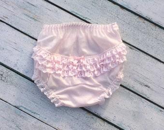Pink Diaper Cover Ruffled Panty Ruffles PINK Rhumba Diaper Cover