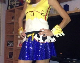 Jessie Toy Story inspired Sparkle Running Misses round skirt Buzz, Woody