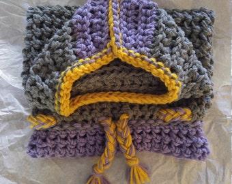 Crocheted Nuggy aka Hooded Baby Swaddle or baby sack