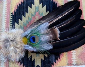 PowWow Fan, Native American Fan, Ceremonial Feathers, Prayer Feather Fan, Smudge Feather, Real Feathers, Smudge Fan Shell Kit, Smudge Kit,