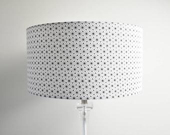 Lampshade cylinder 'AsanoHa' black and white