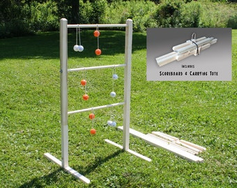 Ladder ball yard game set with tote wedding games wooden wooden ladder ball game unpainted ladderball game ladder toss yard games wooden ladder golf kids solutioingenieria Images