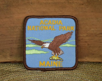 Vintage Acadia National Park Patch