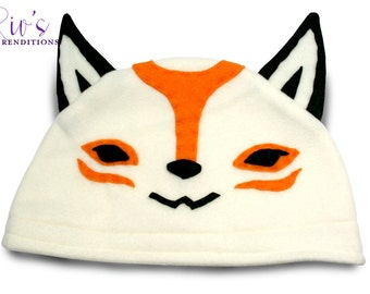 Okami - Amaterasu Hat / Fleece Hat / Winter Hat / Okami Fleece Hat / Video Game Characters