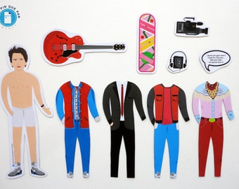 Marty McFly, Back to the Future - Illustrated Fridge Magnets