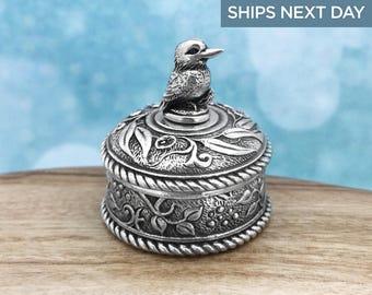 Kookaburra Australian Souvenir Jewellery Box, Australian Made Pewter Gift, Australian Seller, Australian Jewellery