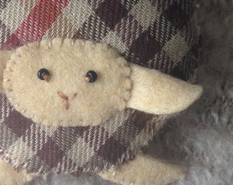 Sheep #4 Handmade brooch, Scottish lamb, Wool Pin, Felt Pin