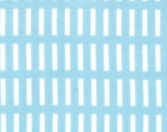 Aneela Hoey for Moda, Walk in the Woods, Dash Stripe in Blue Bell 18526.11 - 1 Yard Sale