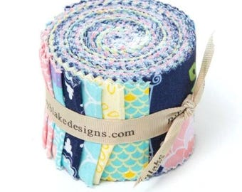 Lulabelle Rolie Polie Precut Fabric Strips Riley Blake Fabric Quilt Strips 40 pieces