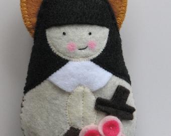 Saint Therese of Lisieux...Little Flower...Felt Softie