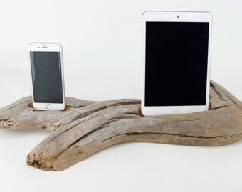 Docking Station for iPhone, iPhone dock, iPhone Charger, iPhone Charging Station, iPhone driftwood dock, wood iPhone dock/ Driftwood-No.1022