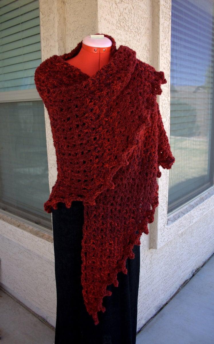 Pdf digital patternboucle crochet shawl pattern easy crochet zoom bankloansurffo Choice Image
