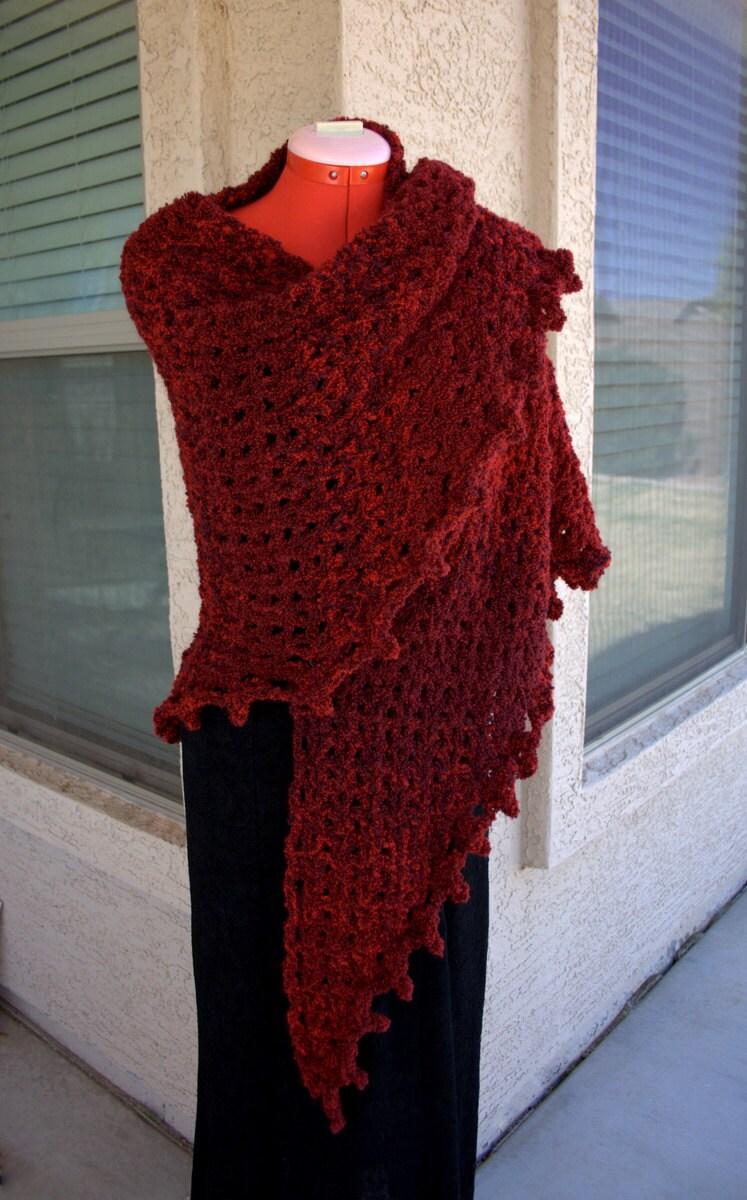 PDF DIGITAL PATTERN:Boucle Crochet Shawl Pattern, Easy Crochet Shawl ...