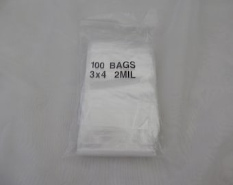 3x4 Zip Lock Poly Bags Recloseable Bags